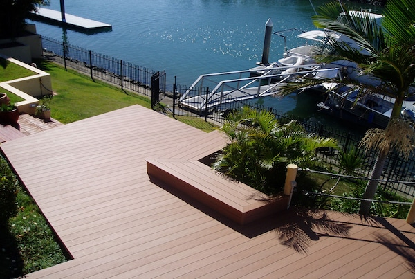 mould resistant wood decking and a variety of colour (aka stains) available